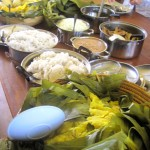 Traditional fare, we were well fed by every project we visited
