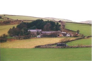 View of the buildings at Brynllwyn in 1994